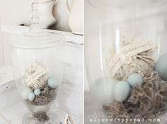 Spring Nest Apothecary Jars