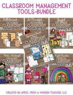 Year Long Classroom Management BUNDLE; Tools for a Positive Classroom; Classroom Management Ready-to-Go; includes reward charts, encouragement cards, positive tickets, reward activity, newsletters, morning meeting prompts, to-do lists, cover pages; Check it out $