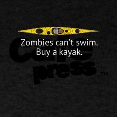 Kayak Zombie T-Shirt on CafePress.com