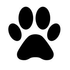Animal paw print shape free icon