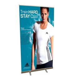 Custom-printed retractable #banner #stands are great promotional tools, and you can create your own pop-up displays in minutes with Display Solution. #bannerstand #retractablebannerstands #rollupbannerstands #popupbannerstands #lbannerstands #telescopicbannerstand