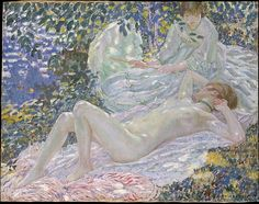 Frederick Carl Frieseke (1874–1939). Summer, 1914. The Metropolitan Museum of Art, New York. George A. Hearn Fund, 1966 (66.171)