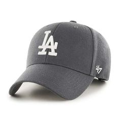 premium selection b4185 e5271 Los Angeles Dodgers 47 Brand Charcoal MVP Adjustable Hat