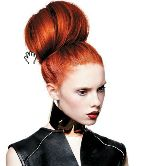 Bold haircolor sets the tone for this elaborate coif from the Gooseberry Creative Team's Orange collection. http://www.americansalondigital.com/publication/?i=146970=60