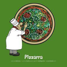 """En español sólo se repiten las siguientes consonantes: cc, ll, nn y rr (acción, calle, innovar, bielorruso). Son todas las que aparecen en la palabra """"Carolina"""". Es, por lo tanto incorrecto escribir *abbreviación, *addicional, *differente, *aggregar, *immortal, *appetito, *passión, *attención. Sin embargo, el Diccionario de la RAE incluye los italianismos pizza, pizzería y pizzicato. Pizzarra... pues no. #Spanish #humor #español #ortografía"""