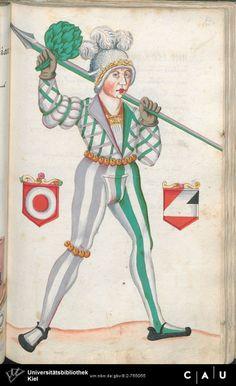 Nürnberger Schembart-Buch Erscheinungsjahr: 16XX  Cod. ms. KB 395  Folio 142