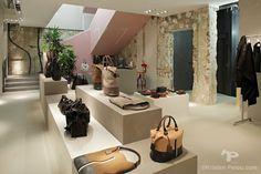 Boutique photographer Celine Store Paris rue Francois 1er - Interior photographer architecture store boutique Kristen Pelou