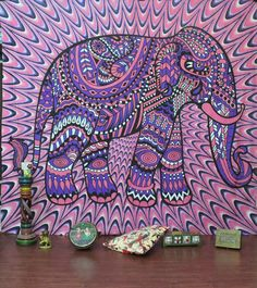 dorm tapestries christmas gift hippie medallion elephant wall hanging elephant sofa throw blanket