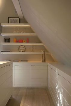 6 Fabulous Tricks Can Change Your Life: Attic Low Ceiling Built Ins attic window treehouse.Attic Before And After Floors attic closet modern. Loft Conversion, Interior, Home, Built Ins, Attic Flooring, Bedroom Loft, Attic Rooms, Exterior Renovation, Renovations