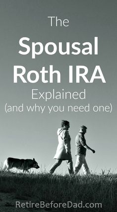 Use the Spousal Roth IRA to double your retirement savings to help build wealth. It's a must have financial account for stay-at-home parents.