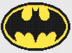 Batman logo perler bead pattern by Kyle McCoy