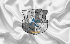 Download wallpapers Amiens SC, Football club, emblem, France, LEAGUE 1, Amiens Sporting Club, Football