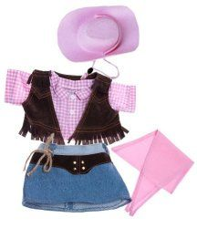 """Cowboy Outfit Teddy Bear Clothes Fits Most 14/"""" 18/"""" Build-a-bear and Make Your"""