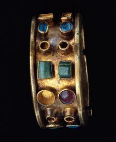 Roman Gold, Glass and Emerald Bracelet, C. 250 - 400 BC