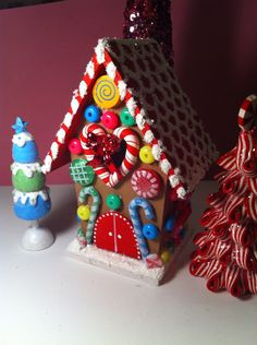 gingerbread house or ornament.  on Etsy, $16.50