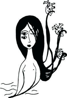"Ubqart - The Social network created by Artists for Artists Francesca Manuguerra's draw ""Musa dei cuori"""