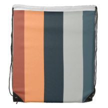 Drawstring Backpack stripe pattern