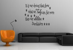 Dumbledore Quote Harry Potter Vinyl Wall Decal Choices Sticker Home Decor  Vinyl Removable Letters (248). $15.99, via Etsy.
