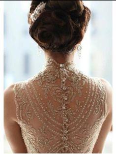 Vintage wedding dress ..stunning