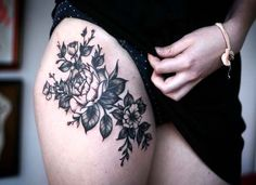 50 Sexy Oberschenkel Tattoos für Frauen | http://www.berlinroots.com/sexy-oberschenkel-tattoos-fur-frauen/