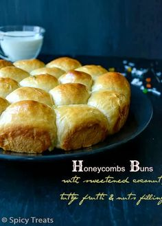 Honeycomb Buns: filled with coconut, walnuts, dried fruit and honey.