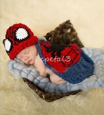 Newborn Baby Girls Boys Crochet Knit Costume Photo Photography Prop Outfits New Crochet For Boys, Crochet Hats, Peacock Crochet, Newborn Animals, Baby Girl Newborn, Baby Girls, Outfits With Hats, Photography Props, Baby Photos