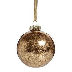 Wilko Let It Glow Gold Glitter Bauble