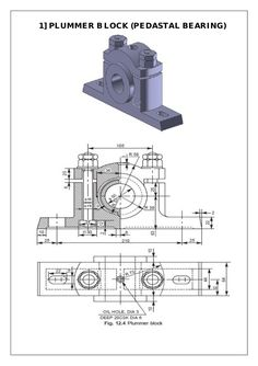 Assembly and Details machine drawing pdf