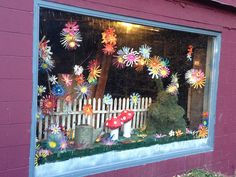 Store window for march spring window display, window display retail, store front windows,