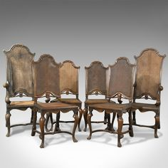 Fine Antique Set Of Six Walnut Bergere Cane Chairs Antiques Atlas Dining