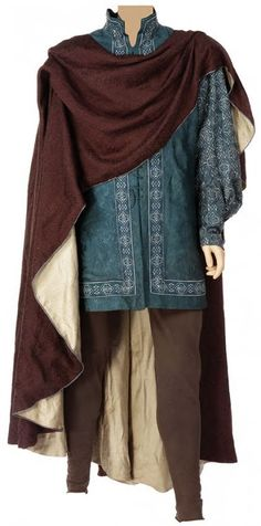 Adult King Edmund Pevensie's tunic, hose and cloak from the return to England scene of The Chronicles of Narnia; The Lion, the Witch and the Wardrobe
