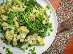 Salada de brócolis com couve flor