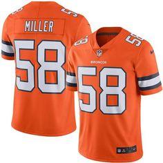 #Nike #Broncos #58 #Von #Miller Orange Men's #Stitched #NFL Limited #RushJersey