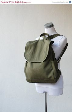 Anniversary SALE 20 Fortuner Backpack in Army Green by nottoc, $47.20