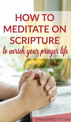 Meditating on scripture is a great way to draw near to the heart of God and enable a more intimate conversation with him. via @lynnae_mccoy