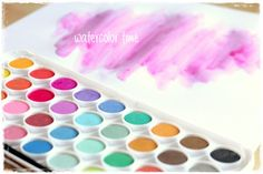 Sada akvarelových barev pro různé kreativní techniky. Cube, Watercolor, Pen And Wash, Watercolor Painting, Watercolour, Watercolors, Watercolour Paintings