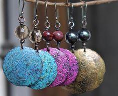 Copper earrings Copper Jewelry Turquoise earrings Hammered earrings Handmade earrings
