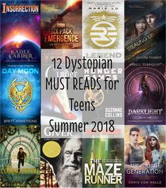12 Dystopian Must Reads for Teens Summer 2018 #read #amreading #summerread #summerreading #mustread #tbr #books