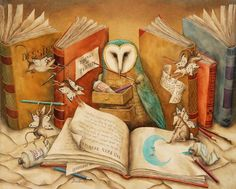 Agnes Boulloche- Love my books & the wise owl too!