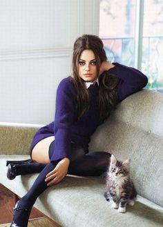 Mila Kunis photographed by Robert Erdmann for Glamour UK, September 2011