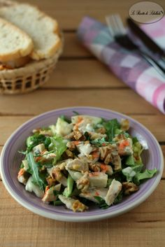Insalata di pollo con salsa al gorgonzola