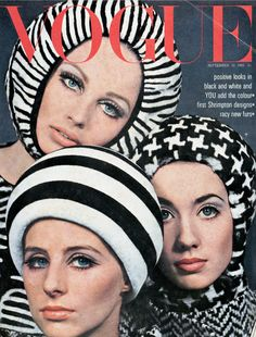 """ ""Sue Murray, Jill Kennington, and Moyra Swan on the cover of Vogue UK, Photo by David Bailey. Vogue Vintage, Capas Vintage Da Vogue, Vintage Vogue Covers, Vintage Fashion, Vintage Hats, Vintage Black, Jean Shrimpton, Vogue Magazine Covers, Fashion Magazine Cover"