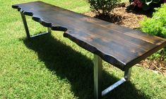 Benches - Rustic + Modern Handcrafted Furniture Bench Furniture, Custom Furniture, Furniture Making, Modern Table, Modern Rustic, Round Farmhouse Table, Farmhouse Style, Farmhouse Ideas, Red Oak