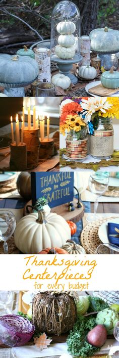 Thanksgiving Centerpieces for Every Budget – Easy Crafts 101 – Top Trends Easy Fall Crafts, Thanksgiving Crafts For Kids, Fall Diy, Thanksgiving Table, Thanksgiving Centerpieces, Easy Diy Gifts, Budget, Diy Party, Party Ideas