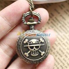 Anime One Piece XH143 Bronze Pocket Watch Sweater Chain - WorldWide Free Shipping