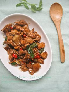 Thai Basil Chicken by smokywok #Basil_Chicken #smokywok