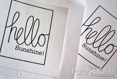 Free printable by @Teri Anderson - Paper Crafts magazine