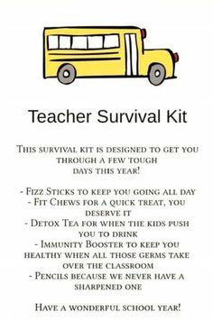 Teacher survival kit! Arbonne immunity booster, Arbonne detox tea, Arbonne fizz sticks and fit chews! | www.jessicasastre.arbonne.com