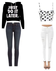 """outfit"" by alygoolsby on Polyvore featuring Paige Denim and Frame Denim"
