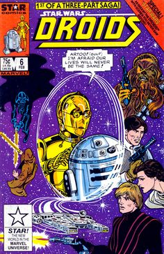Star Wars Droids 6: Star Wars According to the Droids, Book I is the sixth issue of the Star Wars Droids series of comics. Collections Omnibus: Droids and Ewoks